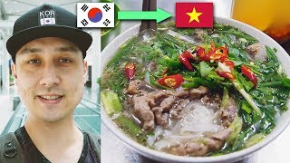 GOODBYE KOREA, HELLO VIETNAM | First day in Hanoi, Best Pho Noodles so far, Ripped off by Fruit lady