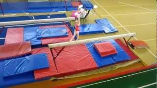 Аня, спортивная гимнастика, бревно (12.05.2012)