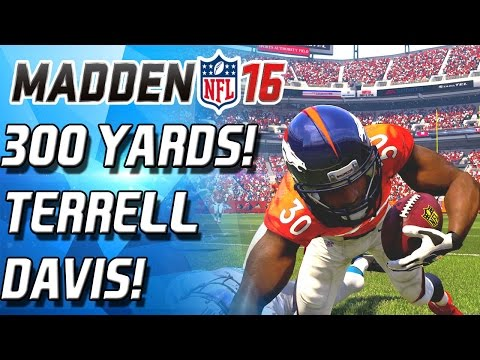 TERRELL DAVIS IS A DOG! 300 YARD GAME! - Madden 16 Ultimate Team
