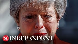 Theresa May breaks down in tears as she announces her resignation as prime minister thumbnail