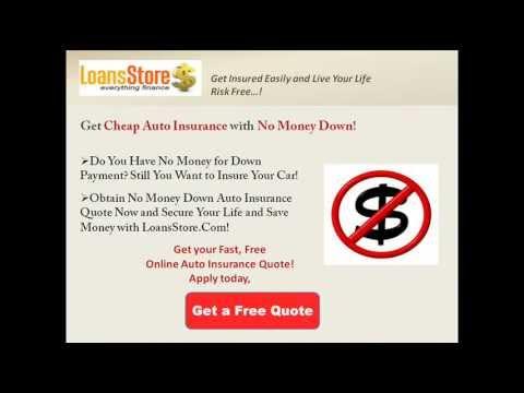 Cheap Car Insurance No Money Down