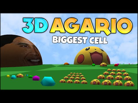FIRST EVER AGARIO 3D! THE BIGGEST #1 AGARIO CELL in 3D AGAR.