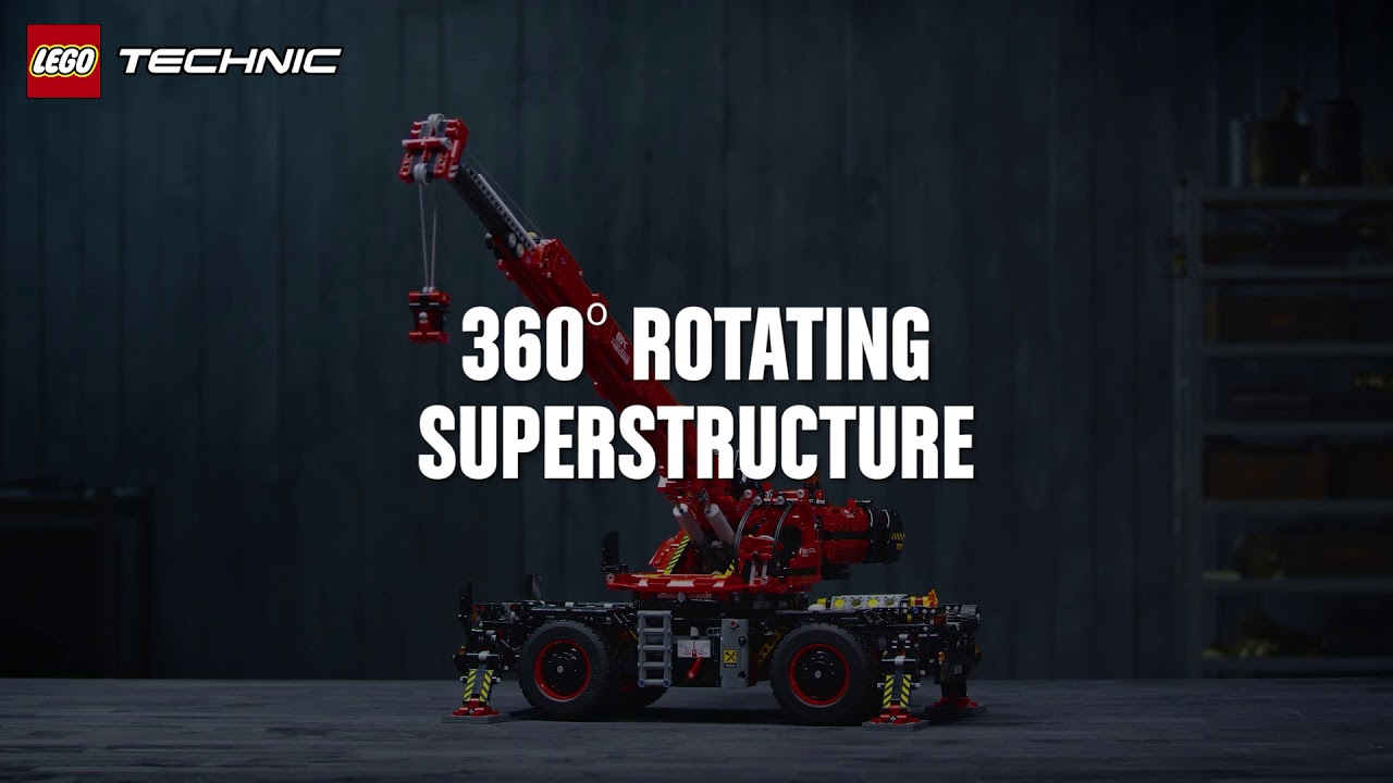 Introducing The Massive Lego Technic Rough Terrain Crane 42082