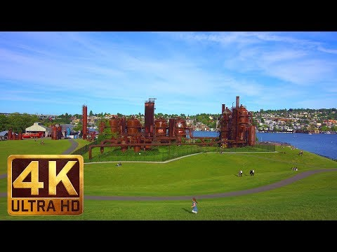 (2.5 Hours) 4K City Relax Video from Seattle - Gas Works Park. Episode 1
