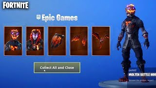 *NEW* LAVA LEGENDS PACK! MOLTEN BATTLE HOUND & MOLTEN VALKYRIE (Fortnite Battle Royale Live)