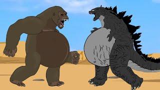 EVOLUTION of GODZILLA PREGNANT: Spider Godzilla Vs Spider Kong | ANIMATION SKILL