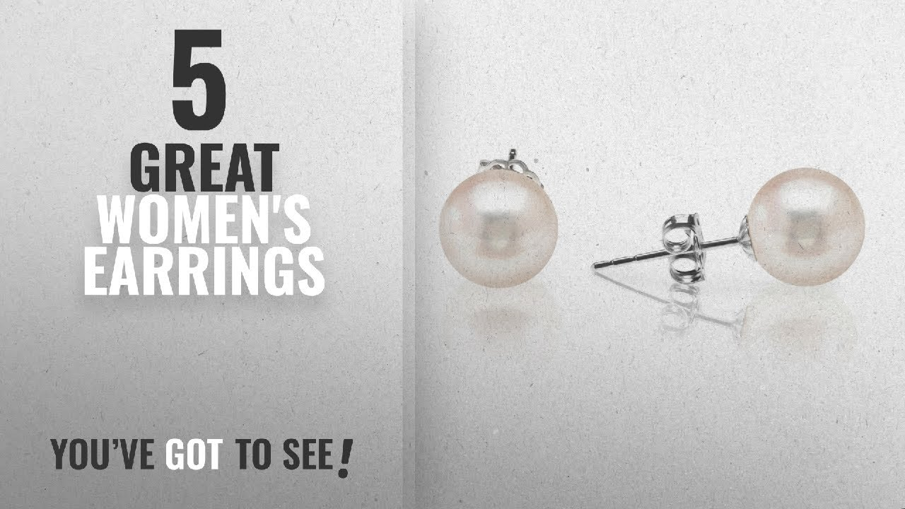 e06e0fcfd 10 Best 6Mm Pearl Earrings [2018]: PAVOI Sterling Silver Round Stud  Freshwater Cultured Pearl