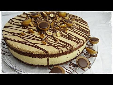 traumhafte toffifee torte torte mit nougat und karamell super einfach und ohne gelatine. Black Bedroom Furniture Sets. Home Design Ideas