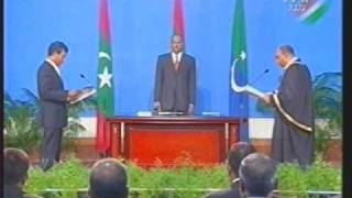 Repeat youtube video President Anni sworn in 21 Gun Salute and National Anthem