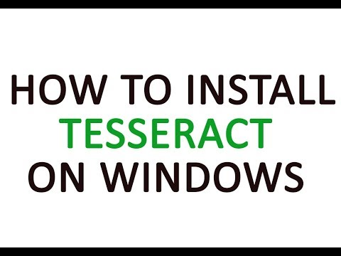 How to install Tesseract on windows
