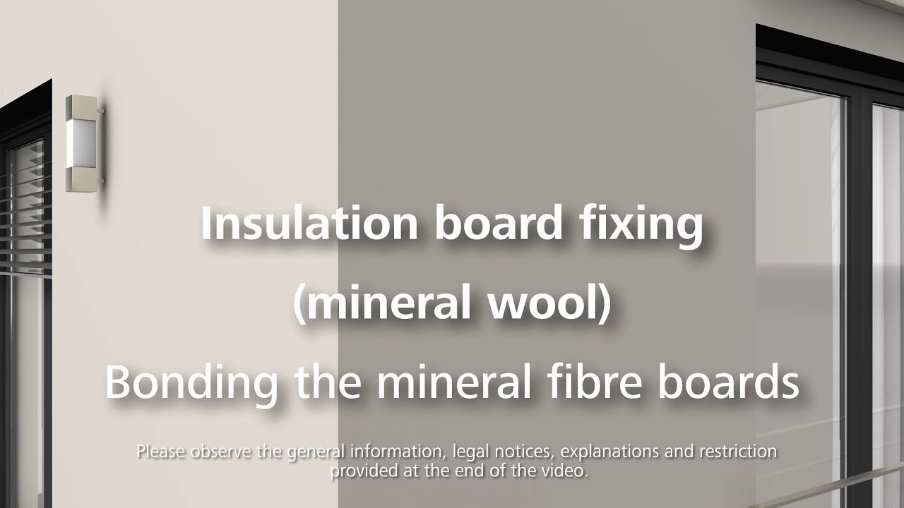 How to attach insulation rock wool using adhesive for Mineral wool installation