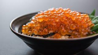 Make ikura from salmon roe