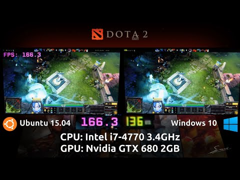 Ubuntu 15.04 VS Windows 10 Pro : Dota 2 Reborn Benchmark with a GTX 680