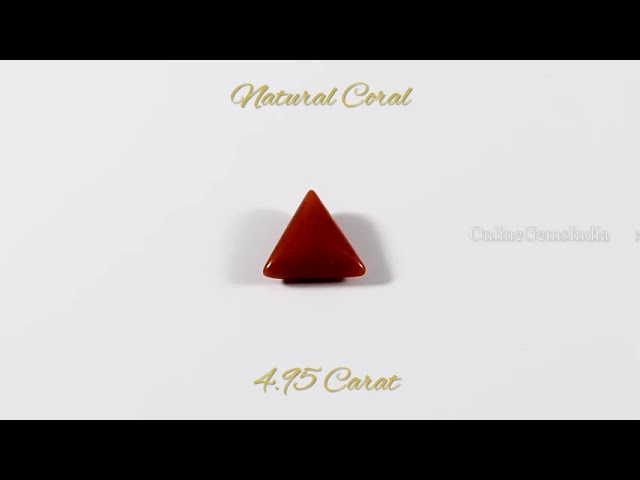 NATURAL RED CORAL (ITALIAN ) 4.95 CARAT