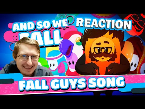 AND SO WE FALL | Fall Guys: Ultimate Knockout Song! | The Stupendium | RUSSIAN REACTION