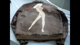 Eastman Leather Clothing A-2 WWII Nose Art Pin Up USAAF Army air Forces