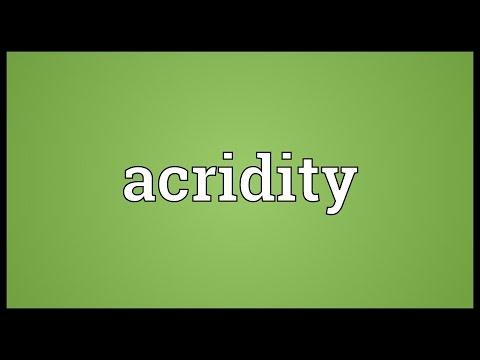 Header of acridity