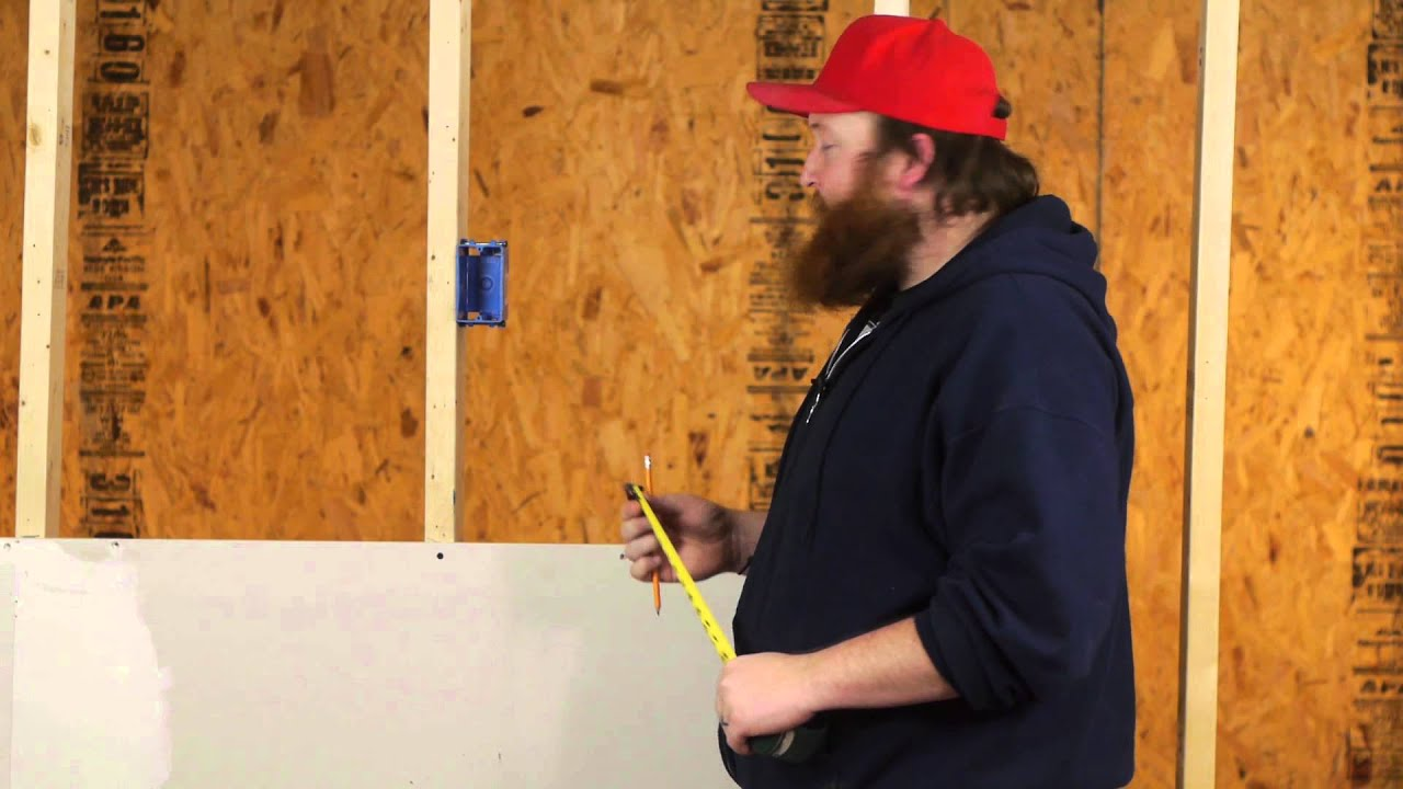 How To Install Sheetrock Around Electrical Boxes Drywall Help Mark Box Run Wire Behind Walls Youtube