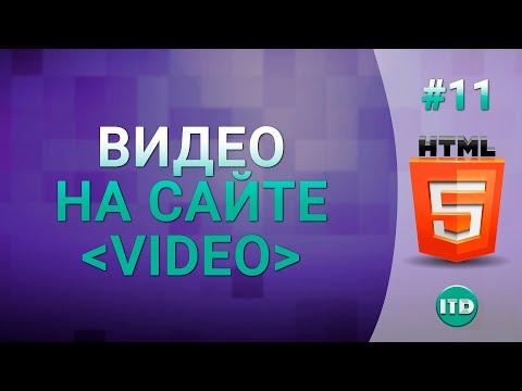 #11 Как вставить видео плеер на сайт Html тег Video