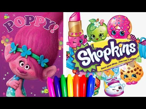 Dreamworks Trolls And Shopkins Coloring Pages Coloring Book Fun