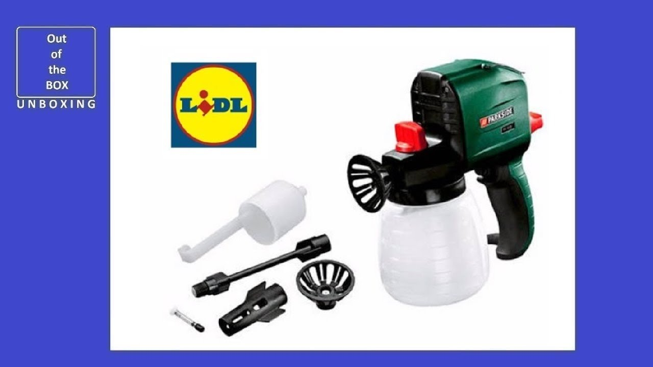 Parkside Paint Spray Gun Pfs 100 C2 Lidl 320 Gmin 160 Bar