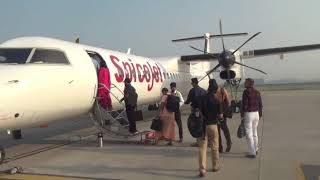 Flying Experience | Bombardier Q400 | Spicejet | Chandigarh-Jammu | Economy Class