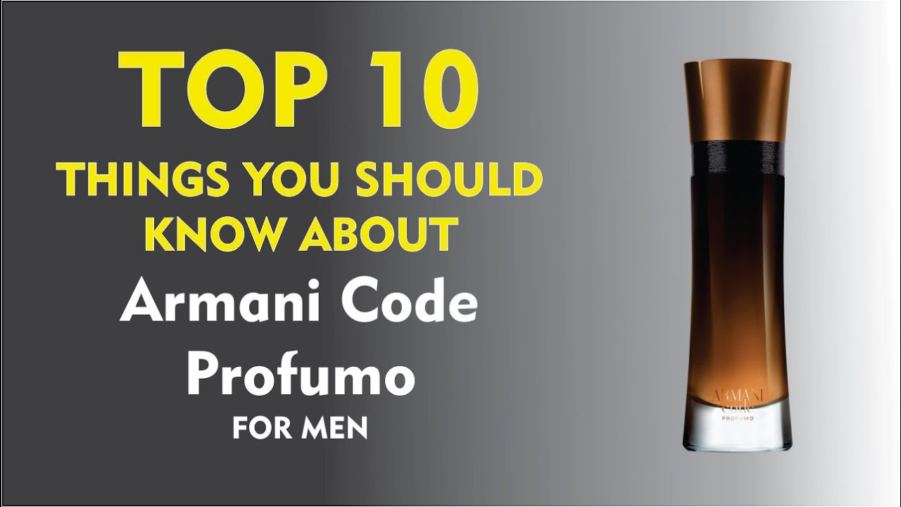 10 You Armani Men For Code Know Top Things Should About Profumo nwNvm80