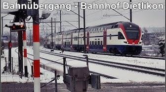 Dietlikon Railway Station / Bahnübergang und Bahnhof Dietlikon, Schweiz 2019