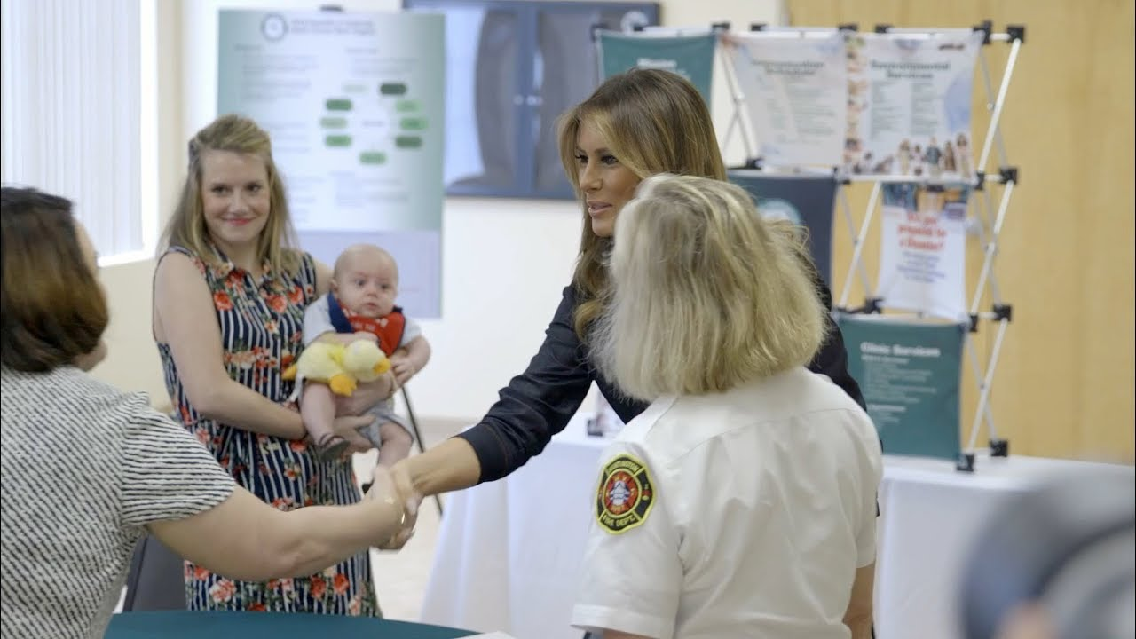 The White House First Lady Melania Trump Visits Huntington, West Virginia