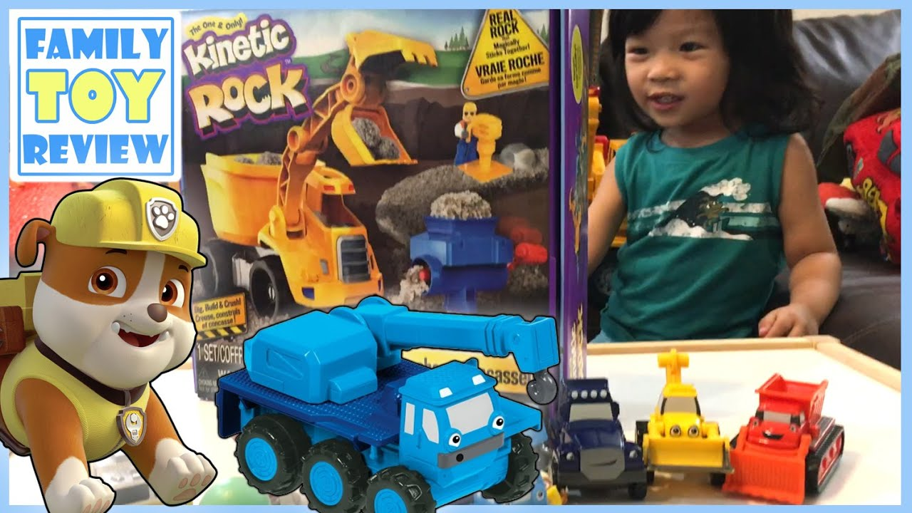 paw patrol rubble finds kinetic rock crusher construction