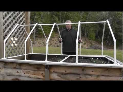 Build Mini Greenhouse For Raised Beds