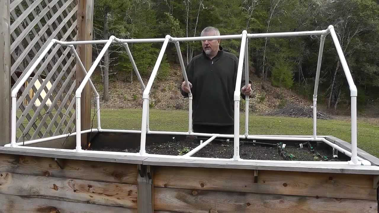 Build a mini greenhouse for raised beds youtube youtube premium solutioingenieria