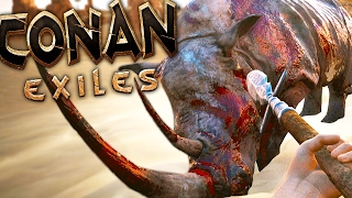 Conan Exiles - CREATURE HUNTING, UNLIMITED IRON, DUEL WEAPONS - #2 (Conan Exiles Gameplay)