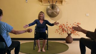 "Chair Yoga Dancing with Julie! ""The Show Must Go On!"" Great for All Ages!"