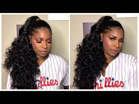Protective Style For Natural Hair  Sleek Ponytail on Natural Hair w Weave  Stema Hair Review