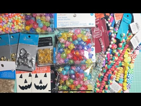 💜Joanns, Michael's and Hobby lobby 💜Haul! Crafts Haul /// Beads/// charms