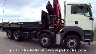 pktrucks MAN TGS 41.400 BB-WW 8x4 equipped with Palfinger PK 36080 crane - NEW