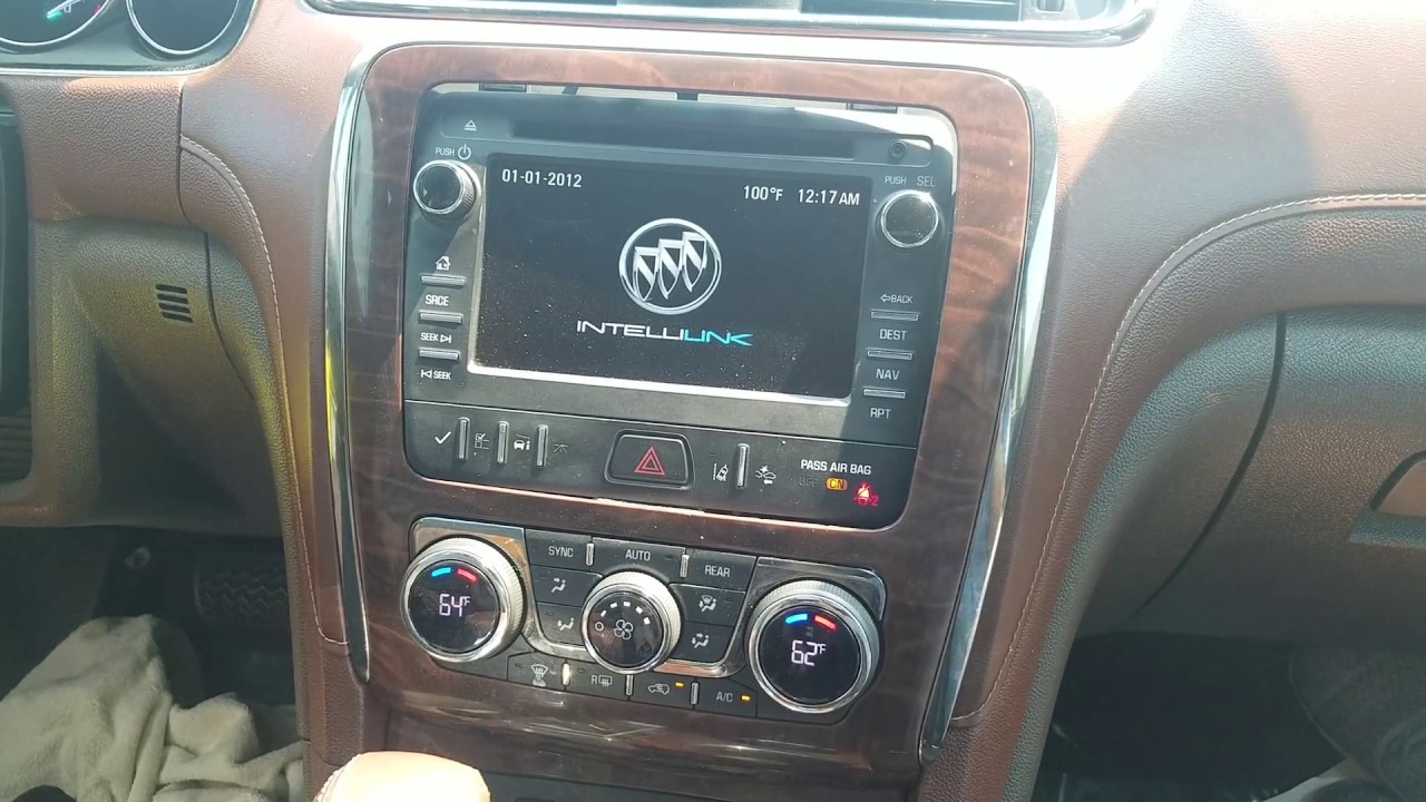 How to Remove Radio / Navigation / CD Player from Buick