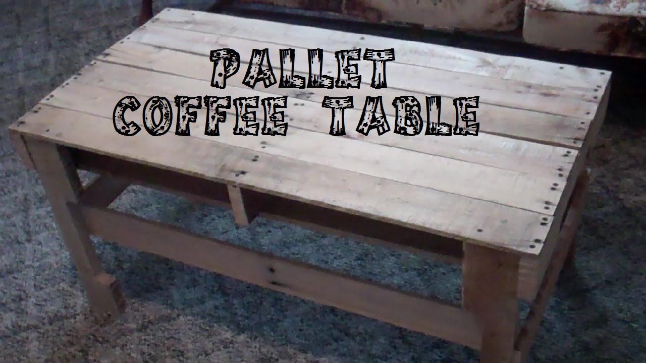 DIY Pallet Coffee Table - DIY Pallet Coffee Table - YouTube