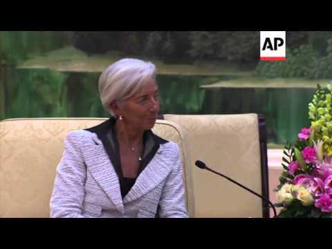 IMF chief Christine Lagarde meets China's Premier Li Keqiang