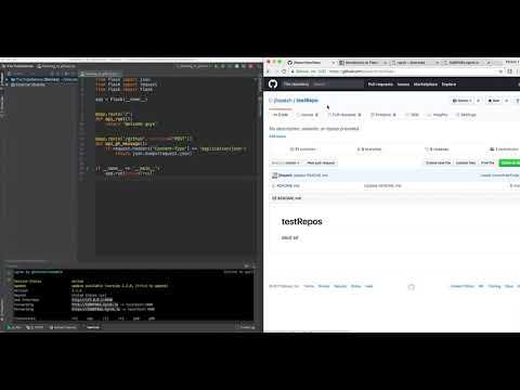 Python: Create  Github Webhook And POST Info To A Flask WebApp (ngrok)