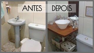 Reforma em Banheiro – Rápido e Barato – Com Cuba de Vasilha de Plastico