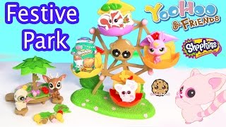 Yoohoo & Friends Animal Ferris Wheel - Festive Park Playset - Shopkins Season 3 Blind Bag Toy Video