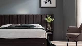[쉐우드가구] 코츠 호텔 평상형 멀티 수납형 LED 침…