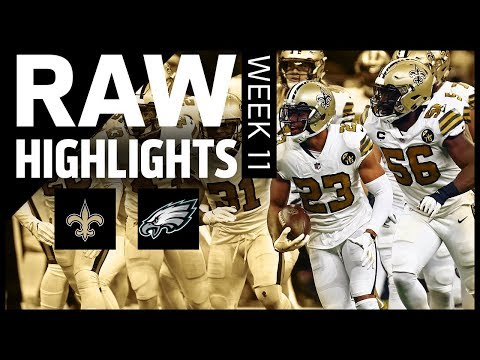 Raw Highlights from the Saints vs Eagles Week 11 matchup   2018 NFL