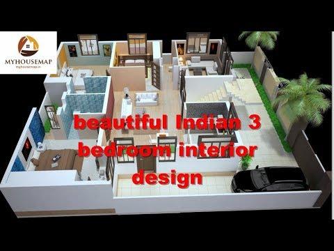 Beautiful Indian 3 Bedroom Interior Design Best House Ideas