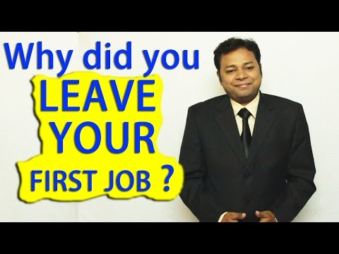 Why Did You Leave Your Last Job?   How To Answer This INTERVIEW Question