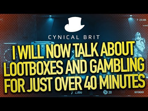 I will now talk about Lootboxes and Gambling for just over 40 minutes