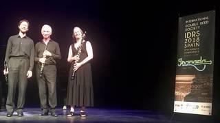 Lonarc Oboe Trio  play Trio in F major by Pössinger IDRS18 (Live Performance)