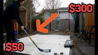 HIGH VS LOW END HOCKEY STICK!